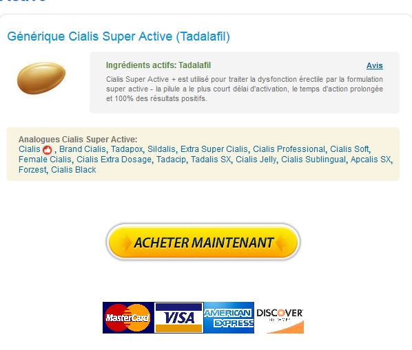 Achat Cialis Super Active 20 mg Original :: 100% Satisfaction garantie :: Expédition rapide