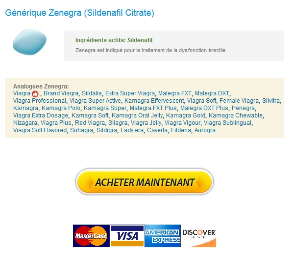 Options de paiement flexibles. Prescription De Zenegra 100 mg