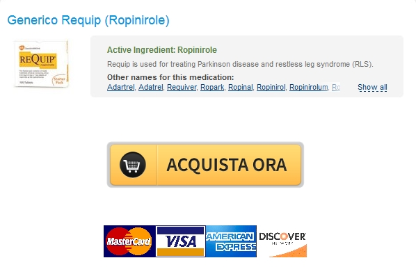 In linea 1 mg Requip Quanto costa. Canadian Pharmacy. Worldwide Shipping (1-3 giorni)