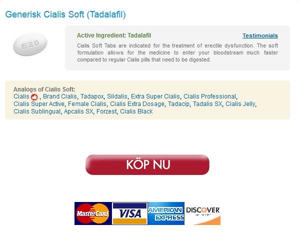 På Nätet Cialis Soft receptfritt Bästa kvalitet och extra låga priser